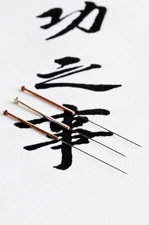 acupuncture: acupuncture needles Stock Photo