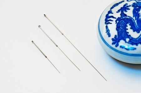 acupuntura china: Las agujas de acupuntura