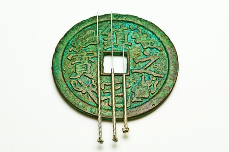 acupuncture needles photo