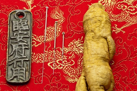 Acupuncture needles and ginseng root
