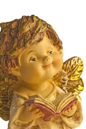 jubilating: angel sings  Stock Photo