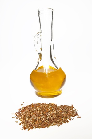 linseed oil and linseed photo