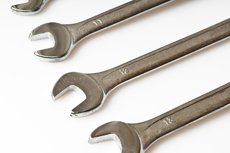 open end wrench: spanner wrench Stock Photo