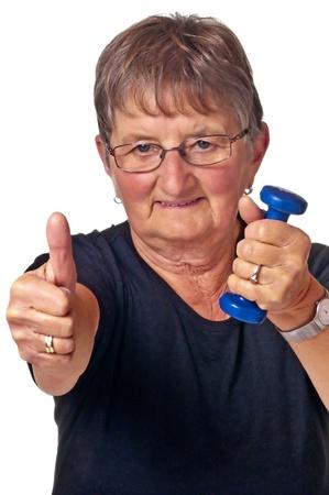 Rentner macht Bodybuilding