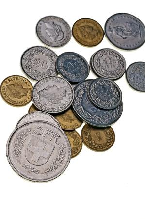 Währung der Schweiz Standard-Bild