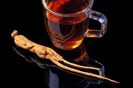 Ginseng Tee Lizenzfreie Bilder