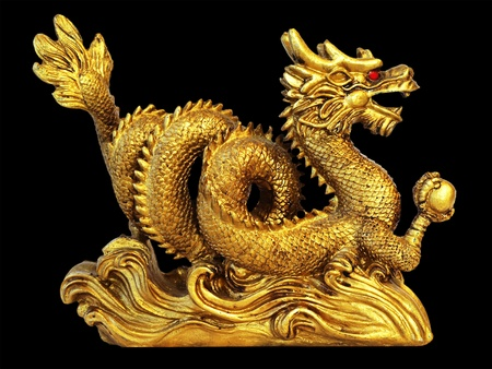 chinese dragon for happiness and luck photo