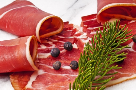 smoked ham of the Black Forest