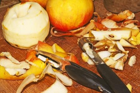 parer: peeling of apples Stock Photo