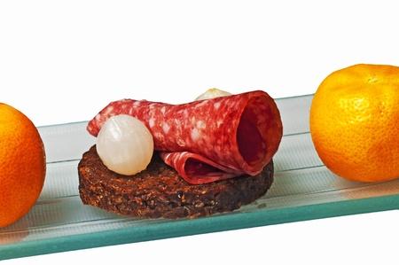 pumpernickel: Pumpernickel with salami