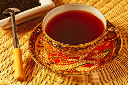 ceylon: black tea of Ceylon Stock Photo