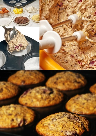 preparation of muffins photo
