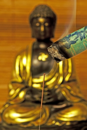 acupuncture needle and moxibustion photo