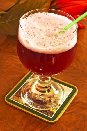famous mixed beer named Berliner Weisse Foto de archivo