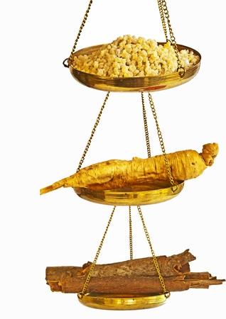 tonify: cinnamon, olibanum and ginseng