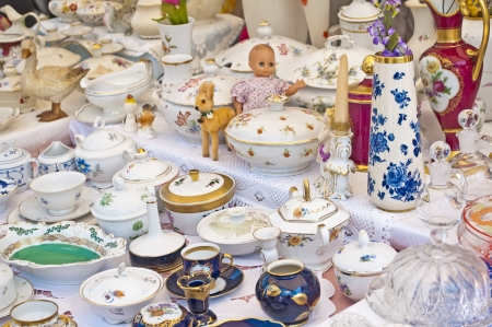 bric-a-brac market Stock Photo