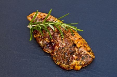 marinated lamb chop photo