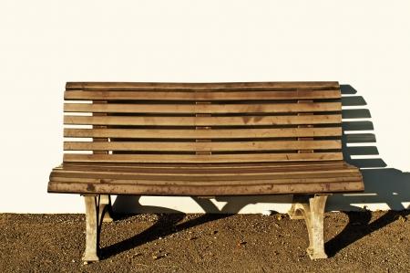 bench park: banco de parque con sol