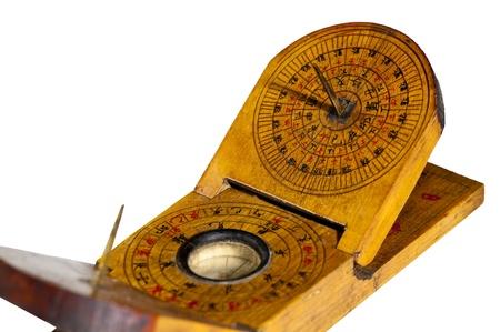 cadran solaire: antique cadran solaire chinois Banque d'images
