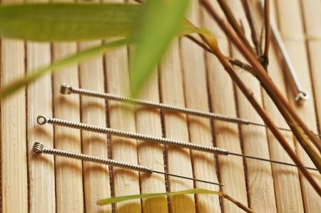 acupuncture needles Stockfoto