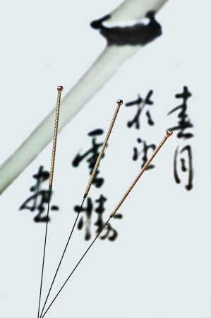 acupuncture needle Stock Photo - 16966202