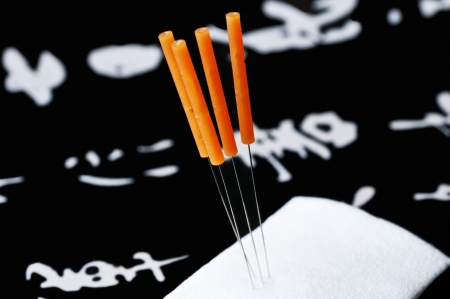 acupuncture needle Stock Photo - 16934800
