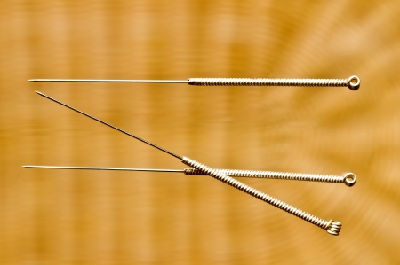 acupuncture needle Stock Photo - 17358544