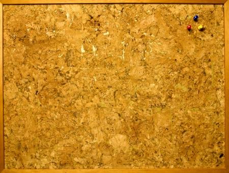 Pin-board of cork photo