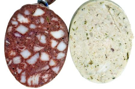 blood sausage and liver-sausage
