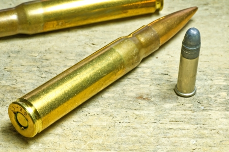 ammunition 8X57 IS and cal.22 long rifle Stock Photo - 17756244