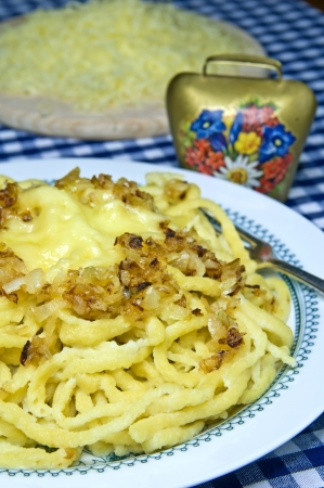 Cheese noodles of the German Allgaeu photo
