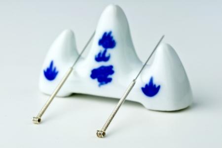 acupuncture needles Stock Photo - 18139917