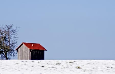 Cabin in snow photo