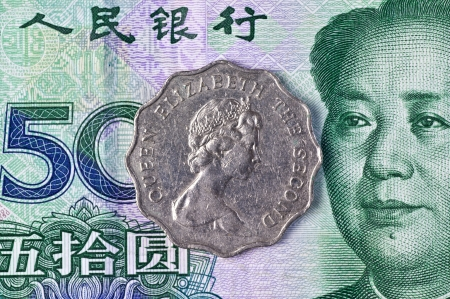 old and new currency of Hongkong photo