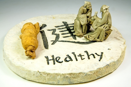 Chinese medicine ginseng root Stock Photo - 20477586
