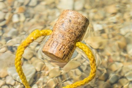 beachcombing: floating cork