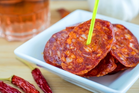 Chorizo, sausage of Spain photo