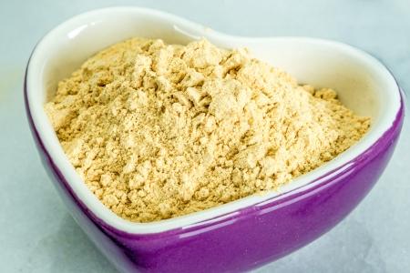maca: Maca, Lepidium meyenii, powder Stock Photo
