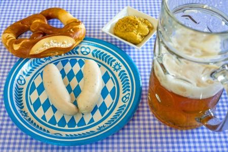 vespers: veal sausage dish on Oktoberfest