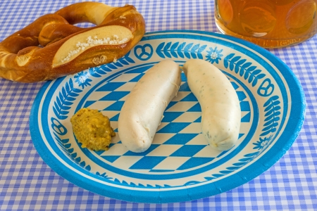 veal sausage dish on Oktoberfest Stock Photo - 22309134