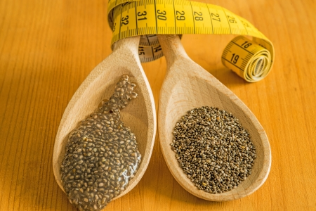 gelatin: Chia seeds and seed gelatin for diet