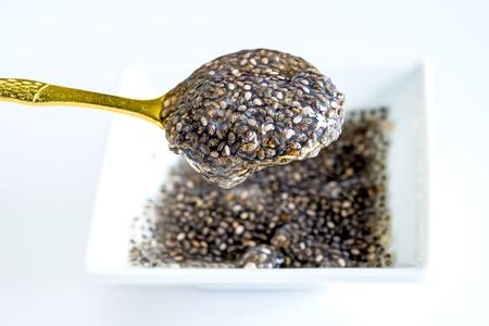 Chia seed gelatin for diet Standard-Bild