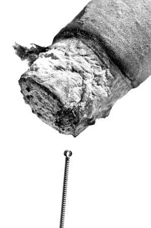 acupuncture needle and moxibustion cigar Stock Photo - 23776329