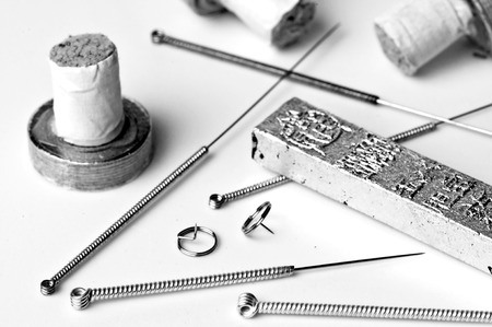 acupuncture needles and moxibustion tools Stock Photo - 23776346