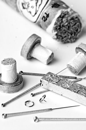 acupuncture needles and moxibustion tools Stock Photo - 23776363