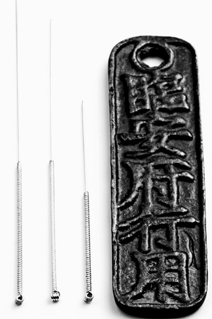 Acupuncture needles Stock Photo - 23776381