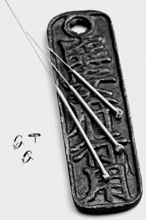 Acupuncture needles Stock Photo - 23776382