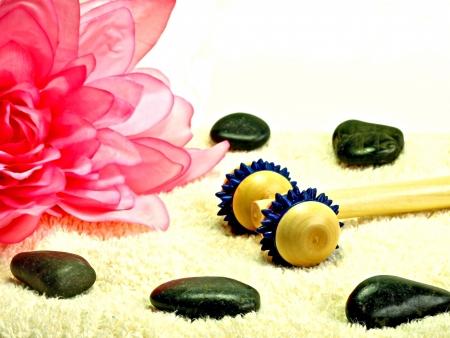 massage tool and hot stone