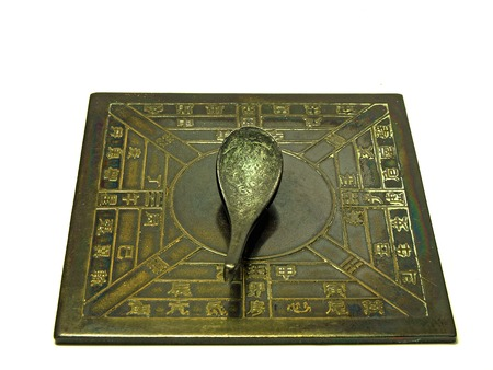 chinese antique spoon compass