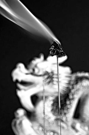 moxibustion: acupuncture needles and moxibustion Stock Photo